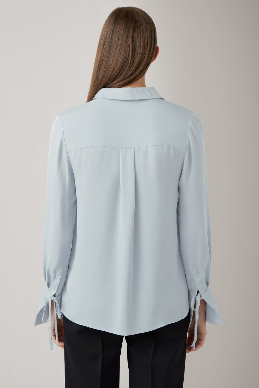 Ice Kiki Silk Oversized Cuff Shirt