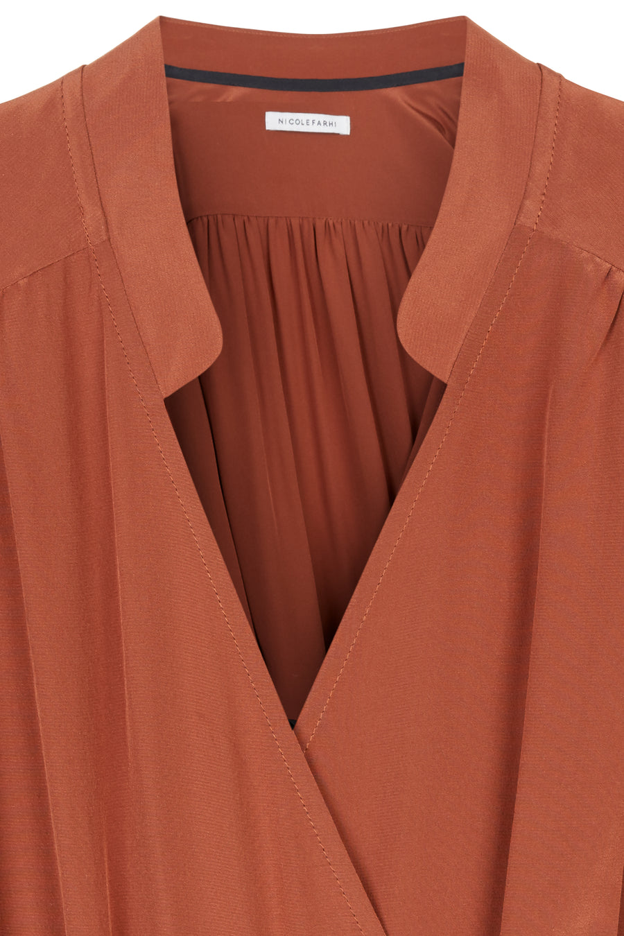 Marron Rianne Silk Fluted Hem Kimono Dress