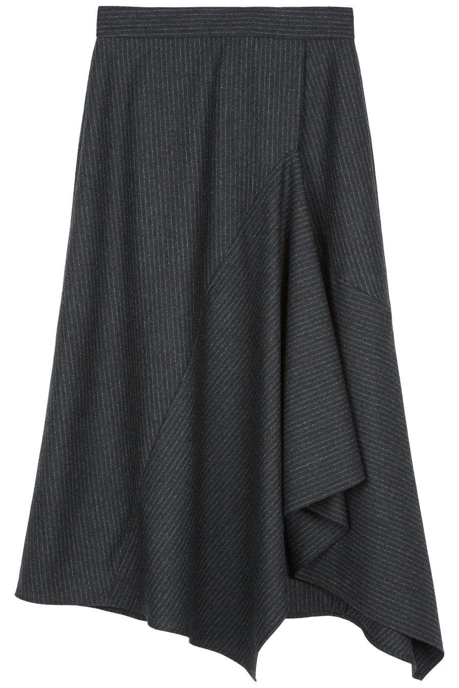 Black Irina Origami Stripe Skirt