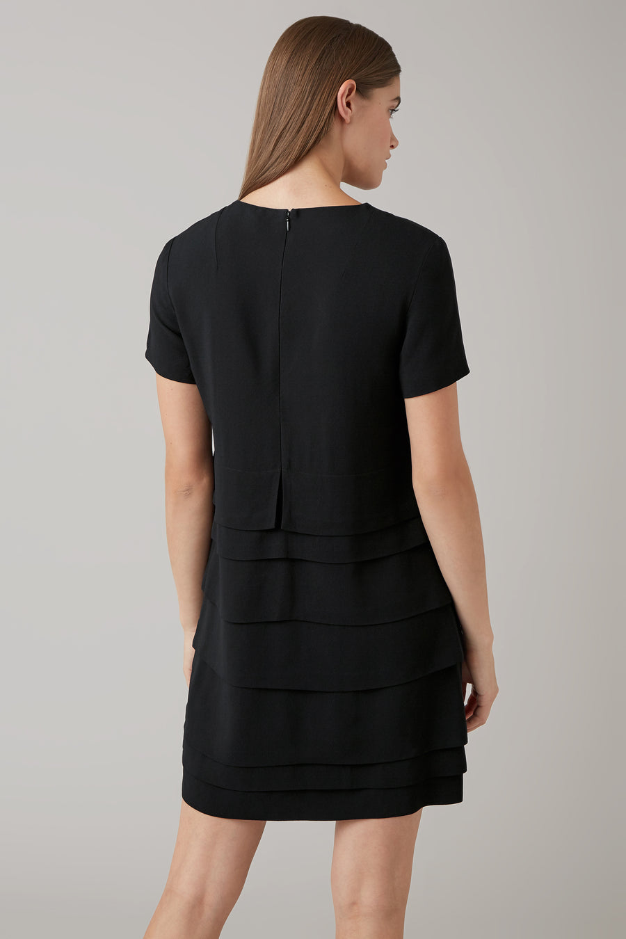 Black Dani Mini Layered Dress