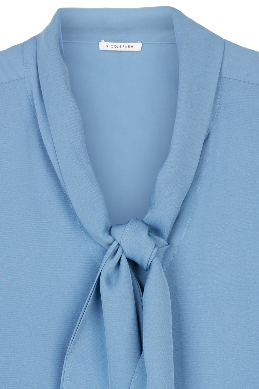 Azure Gina Silk Scarf Neck Blouse