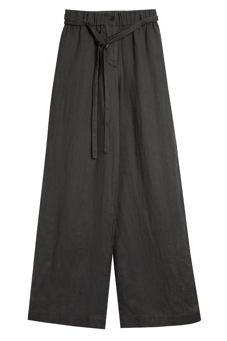 Chalk Linen Drawstring Trousers
