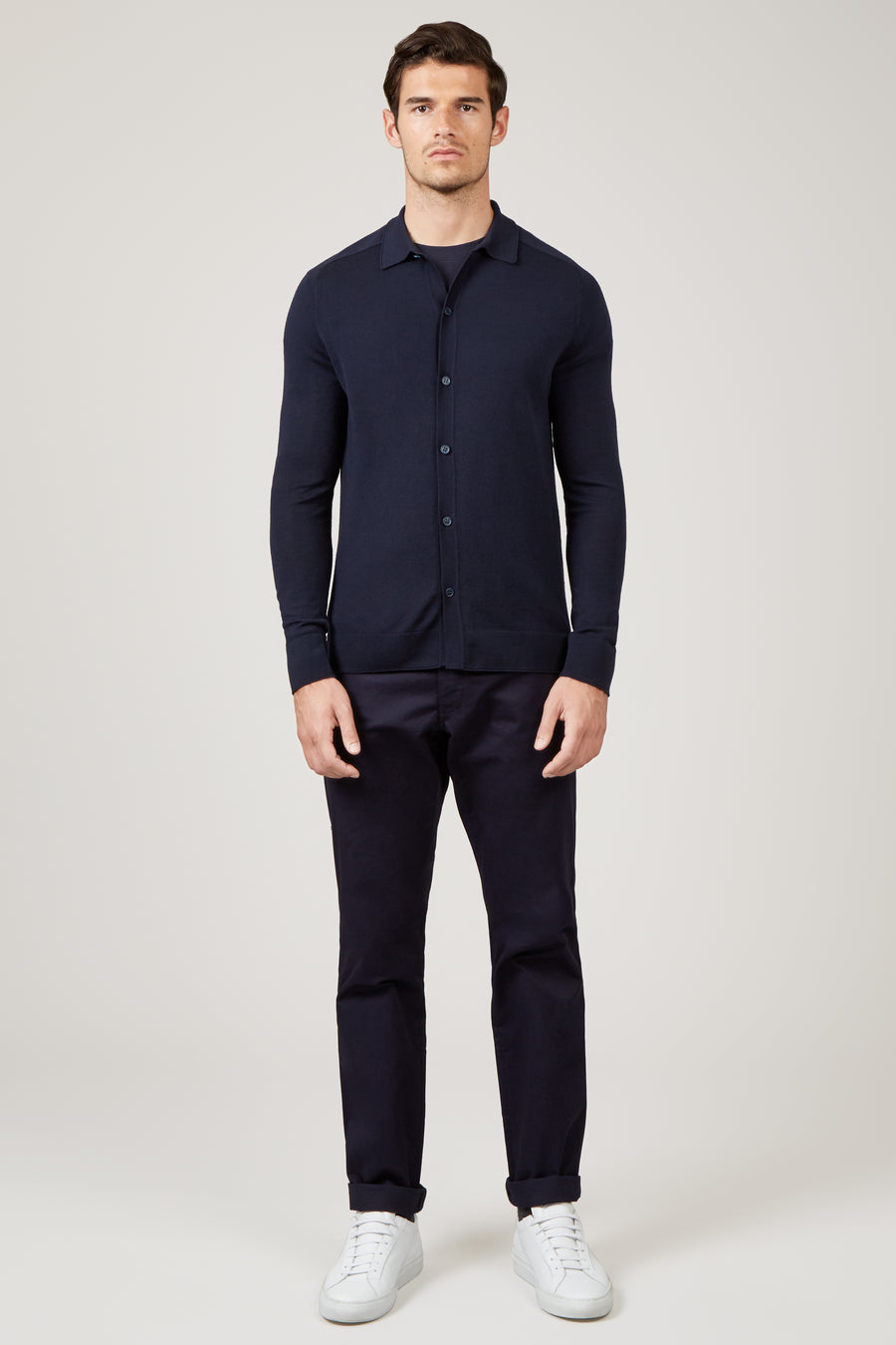 Navy Oliver Knit Shirt