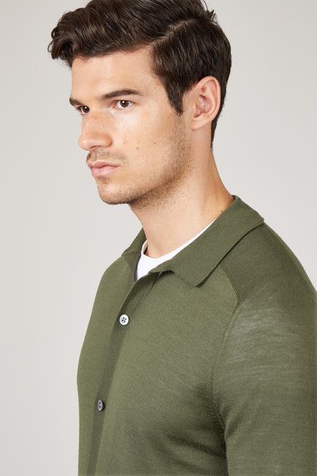 Pale Olive Oliver Knit Shirt