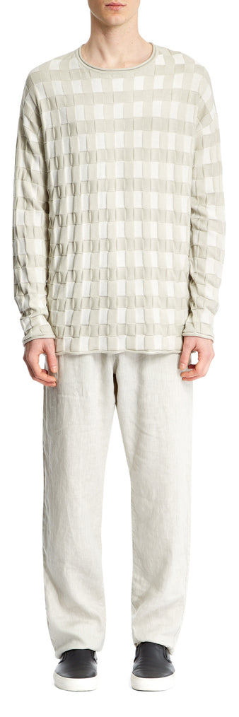 Light Grey Seersucker Check Jumper