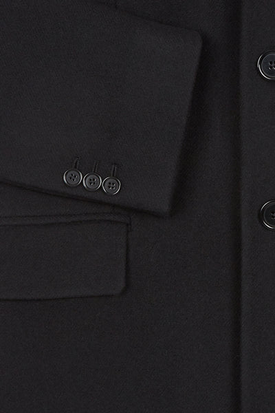 Black Paulin Tailored Coat