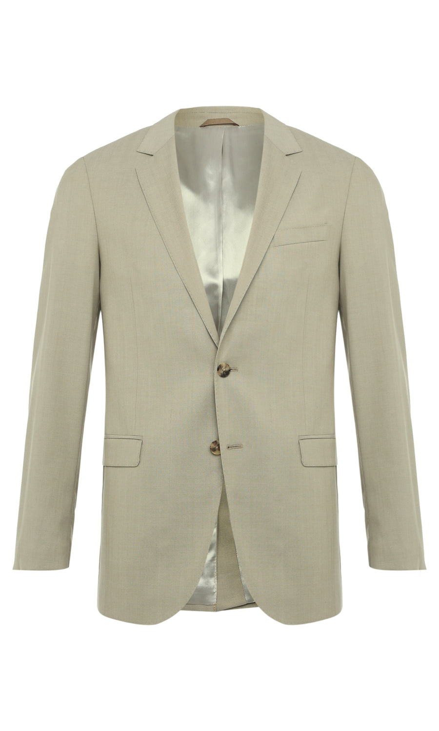 TROPICAL STRETCH WOOL FLAP POCKET BLAZER