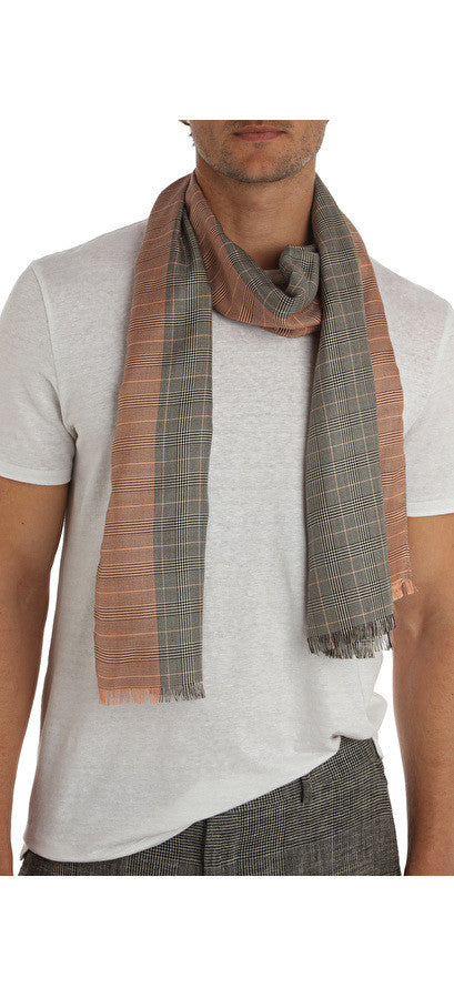 FREUD SILK CHECK SCARF