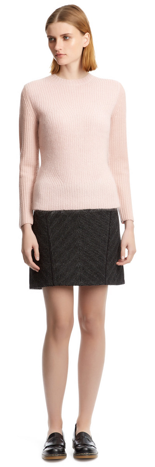 Grey/Black Animal Tweed Skirt