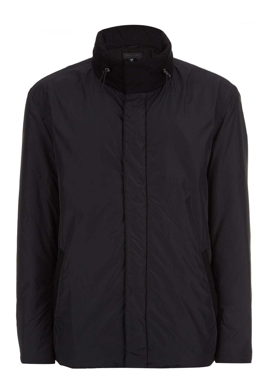Black Nylon Quilted Jacket