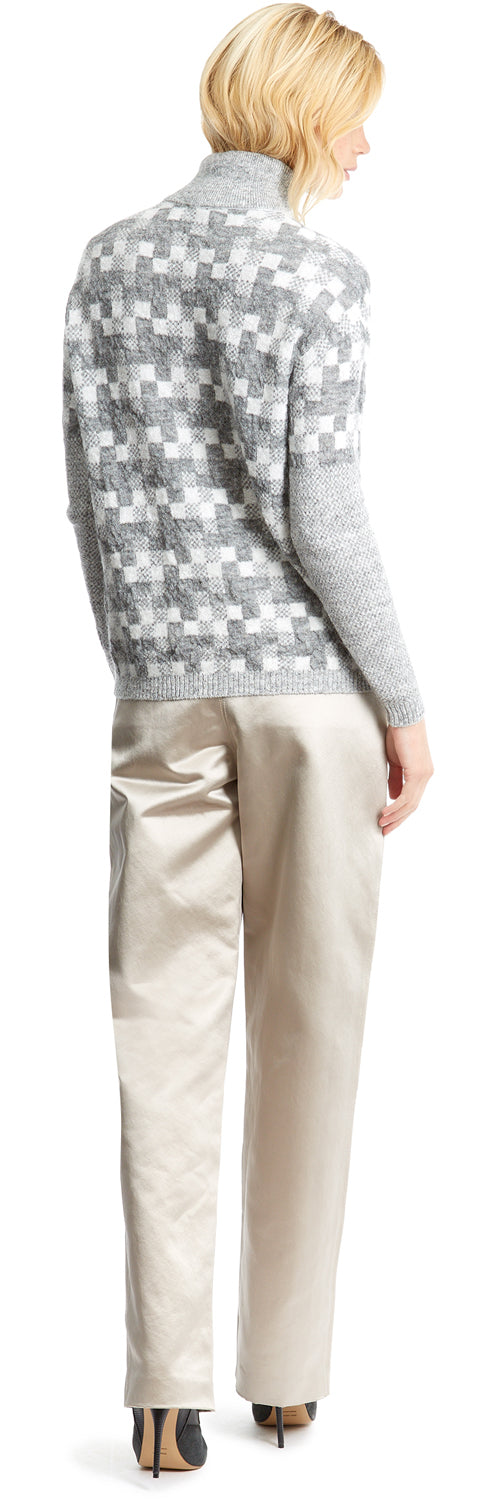 Grey/White Diffused Ninja Knit