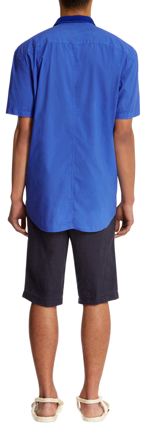 Cobalt Rib Collar Shirt
