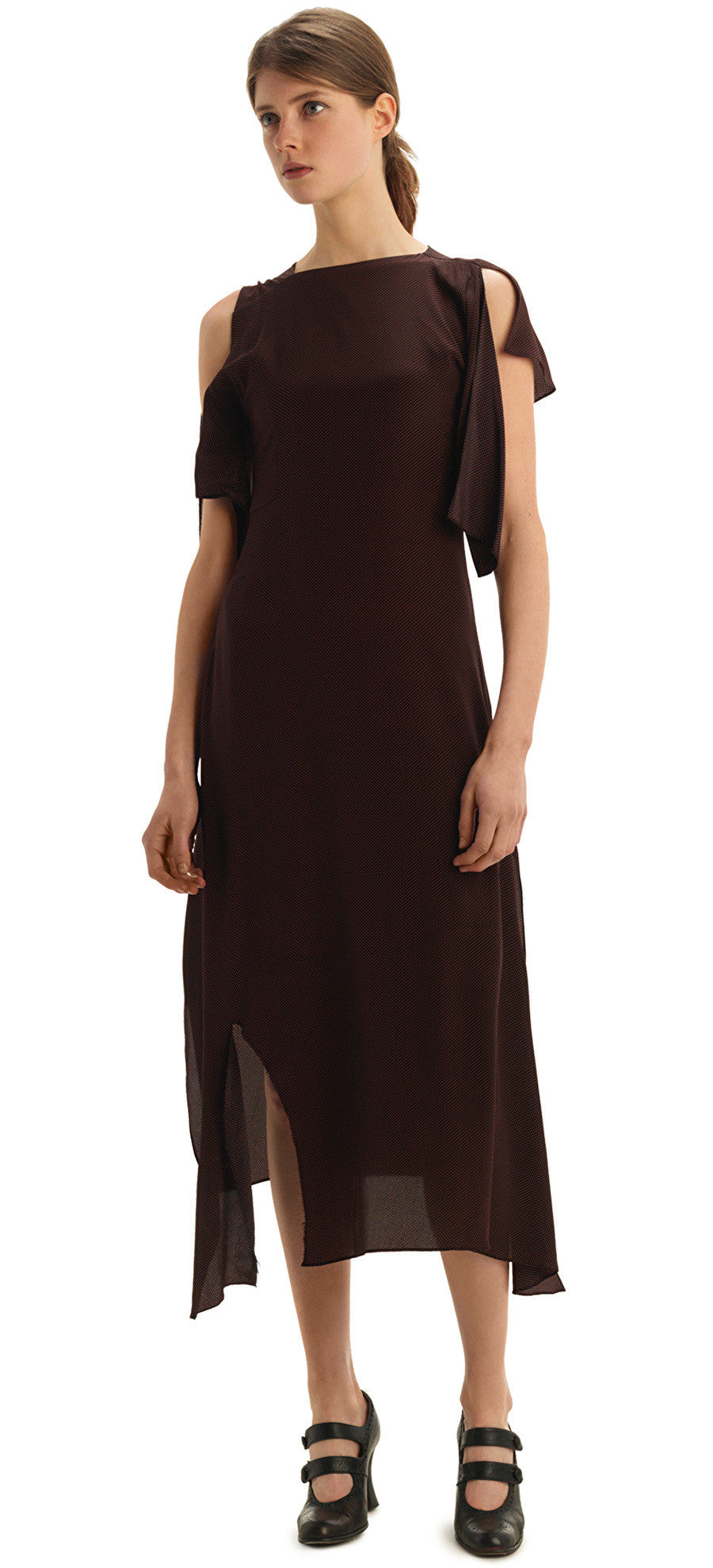 CICERO OXBLOOD SPOT DRESS