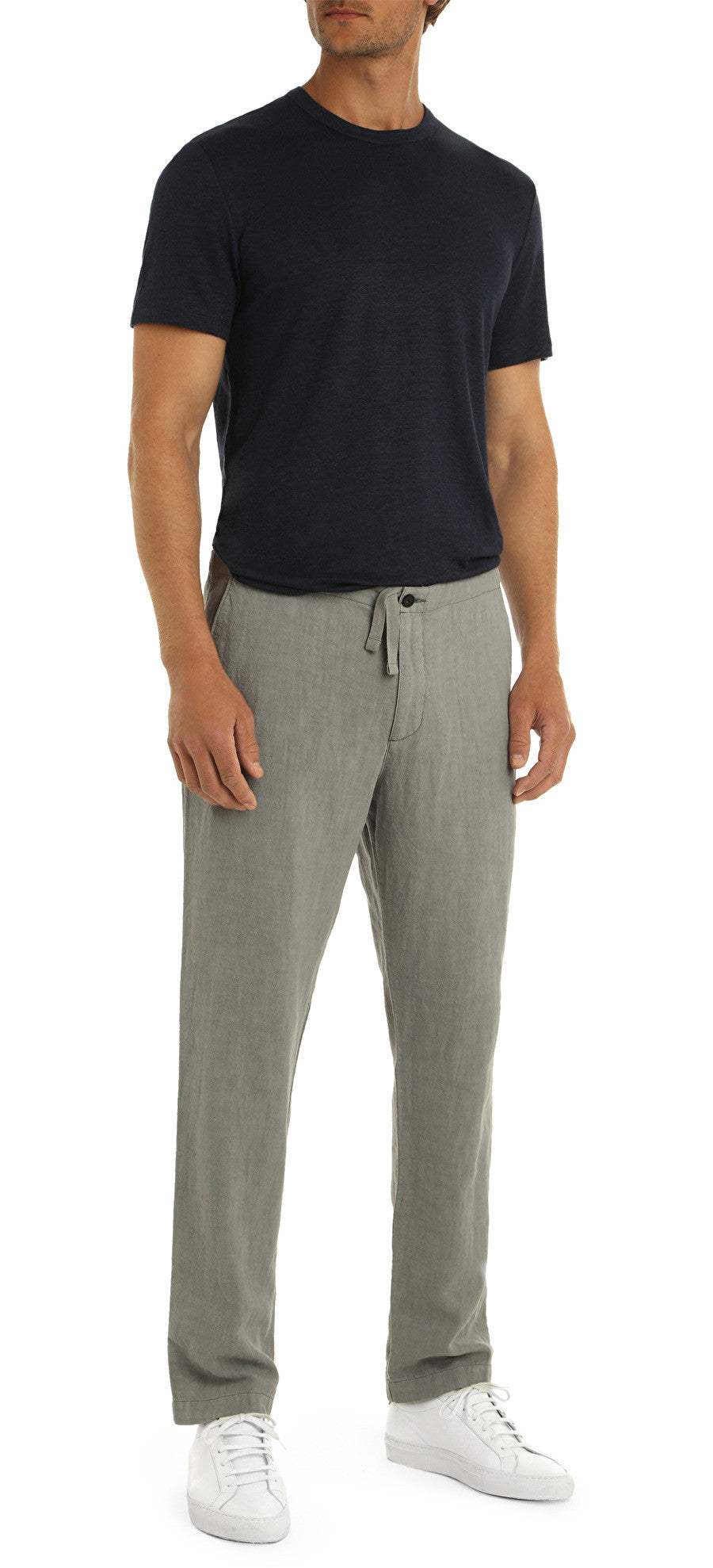 MONROE LINEN GREY TROUSERS