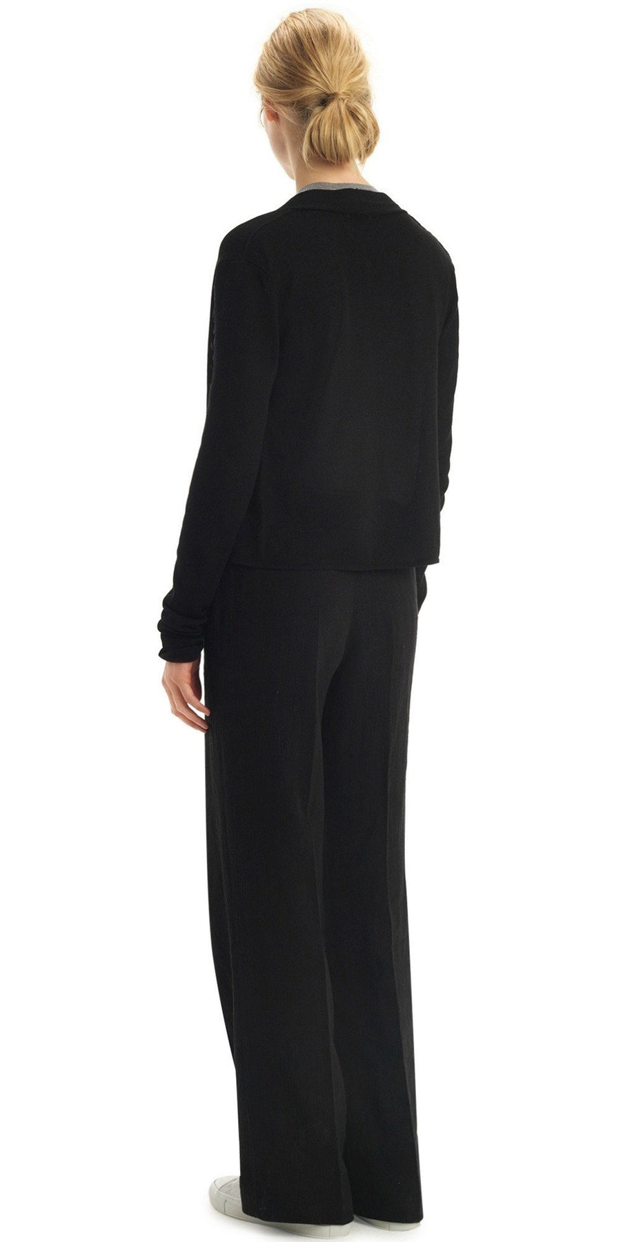 SILK GUIMARD BLACK CARDIGAN