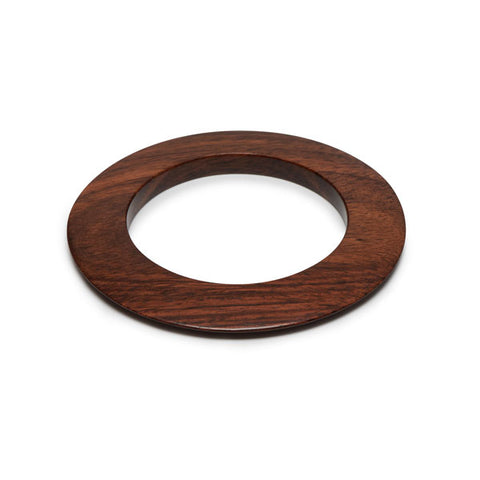 Flat blackwood bangle