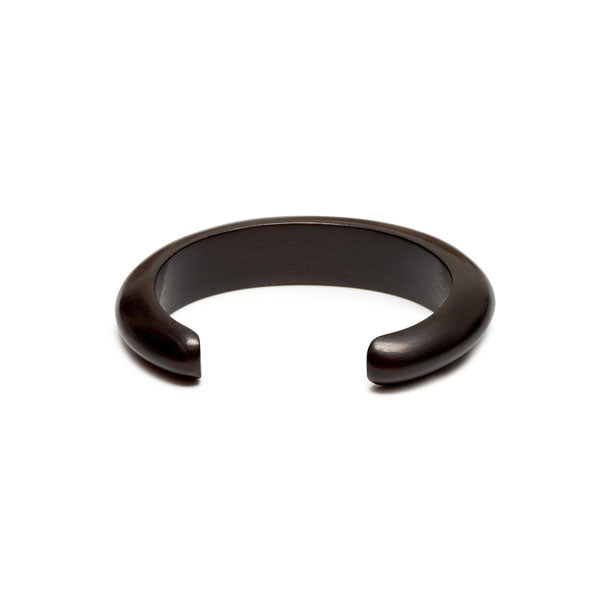 Branch Jewellery - Slim rounded black wood cuff
