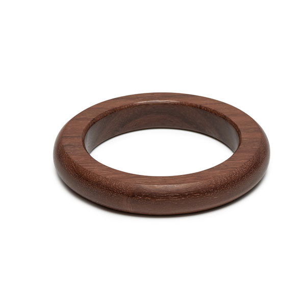 Branch jewellery - Classic rounded brown wood bangle