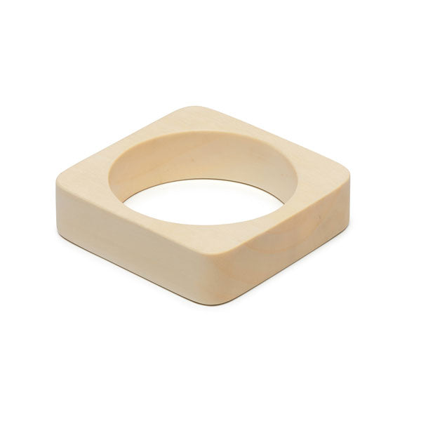 Branch Jewellery - Square white wood bangle