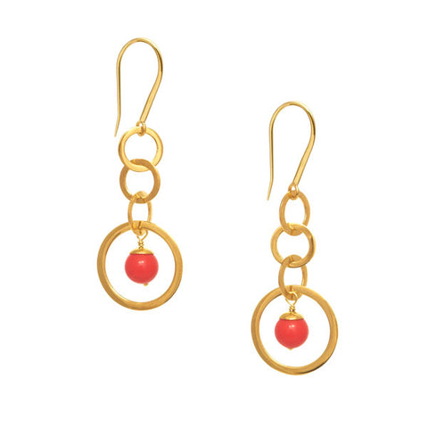 Crescent Monyou earring - Gold