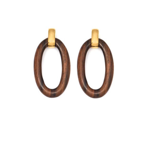 Rosewood full curb link necklace