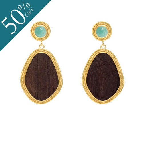 Amazonite Valencia drop earring - Gold