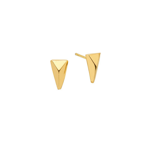 Small Triangular Stud Earring - Gold