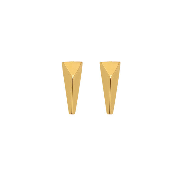 Gold Plated Spear Earrings