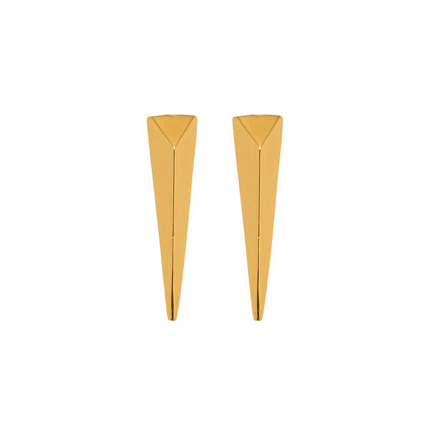 Long Spear Earring - Gold plate