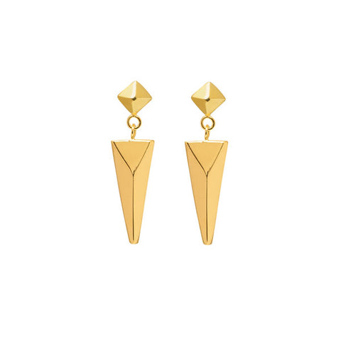 White Wood Foli Earring – Gold