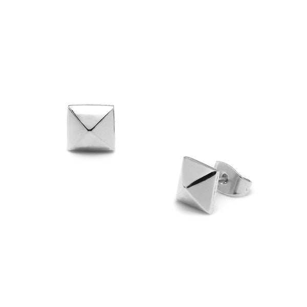 Large Silver Stud Earrings