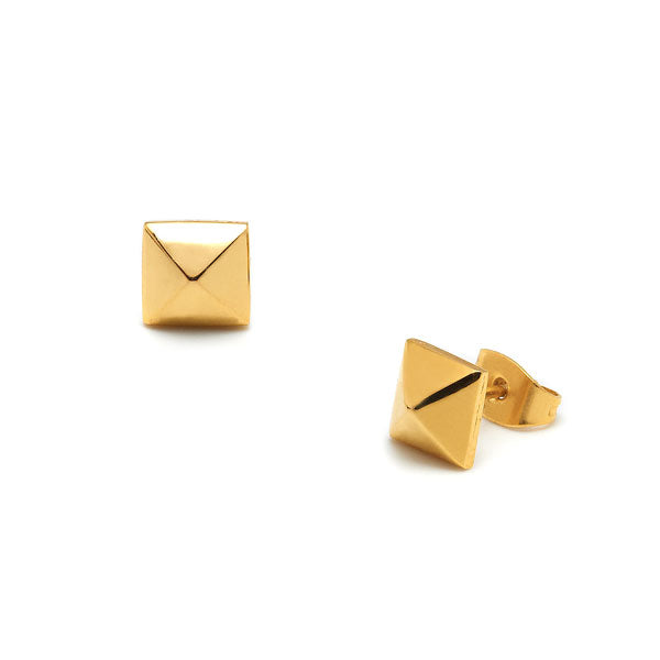 Large Gold Stud Earrings