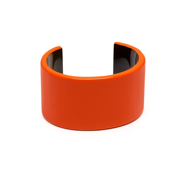 Branch jewellery - Orange buffalo horn cuff