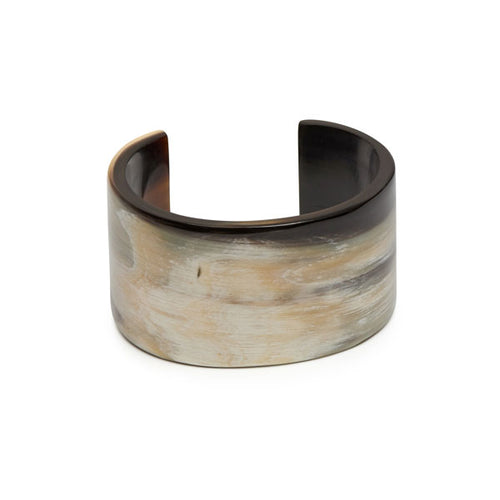 Branch jewellery - White natural buffalo horn cuff