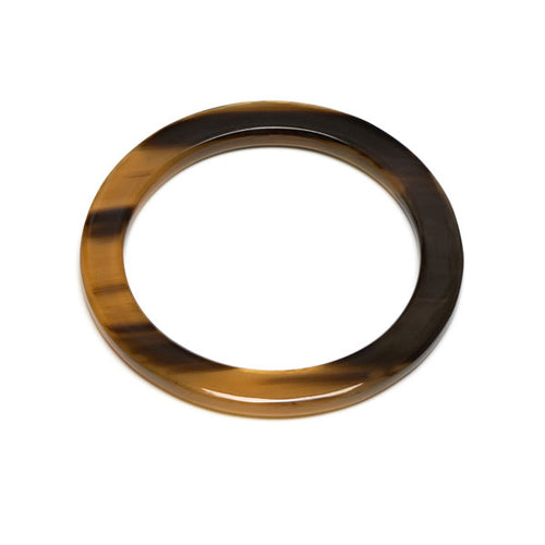 Branch jewellery - Brown Natural buffalo horn bangle
