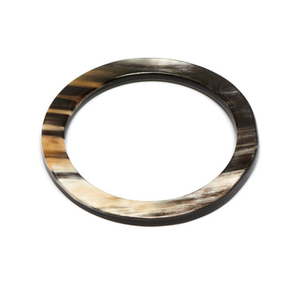 Branch jewellery - Black natural buffalo horn bangle