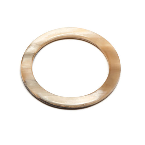 Branch jewellery - White Natural buffalo horn bangle