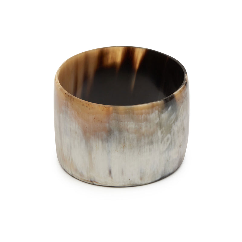 Branch jewellery - Wide white natural buffalo horn bangle