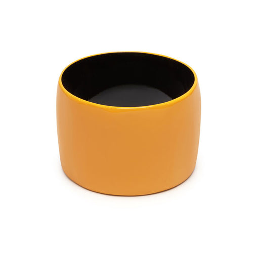 Branch jewellery - Wide Yellow buffalo horn bangle