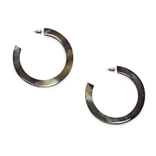 Branch Jewellery - Black natural classic buffalo horn hoop