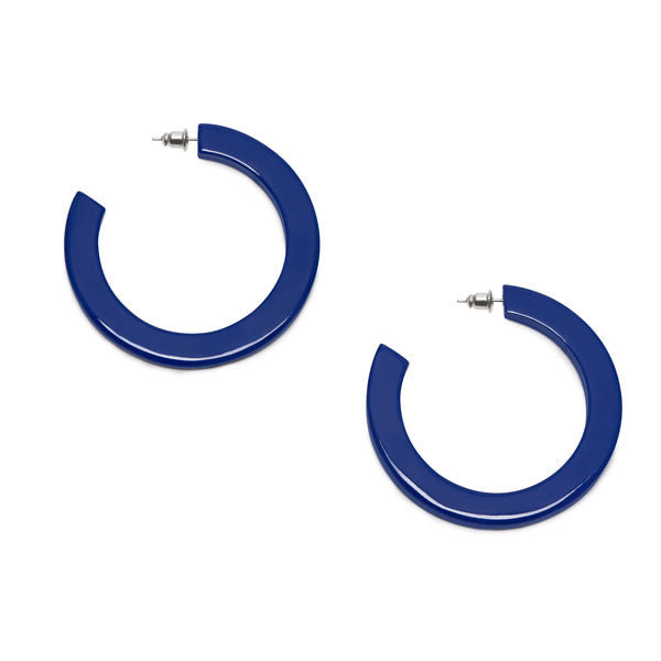 Branch Jewellery - Blue classic buffalo horn hoop