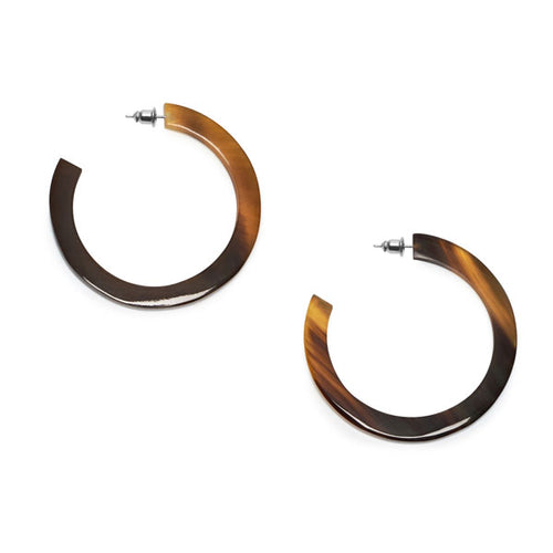 Branch Jewellery - Brown natural classic buffalo horn hoop