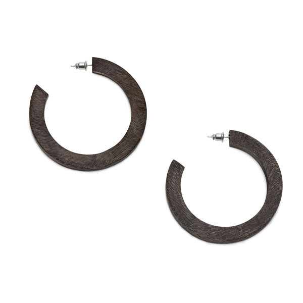 Branch Jewellery - Grey natural classic buffalo horn hoop