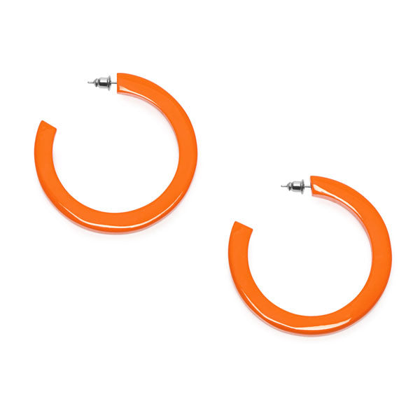 Branch Jewellery - Orange natural classic buffalo horn hoop