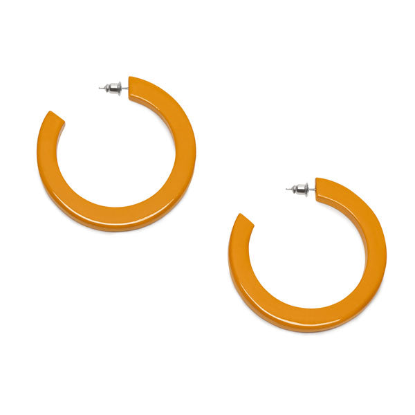 Branch Jewellery - Yelllow classic buffalo horn hoop