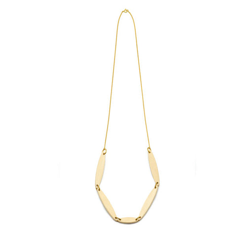 Whitewood hexagonal drop earring – Gold