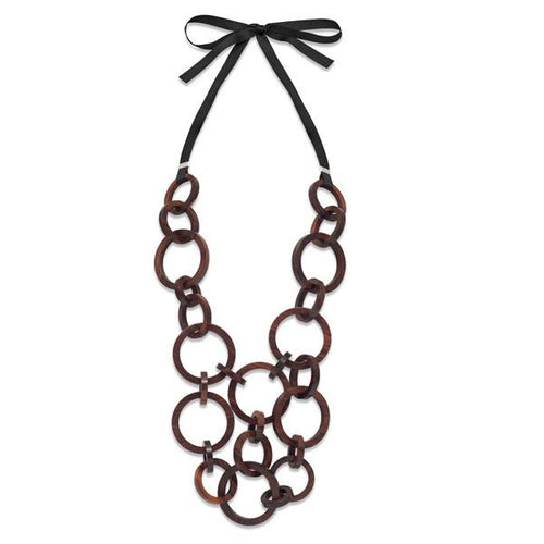 Branch Jewellery - Rosewood round multi link necklace