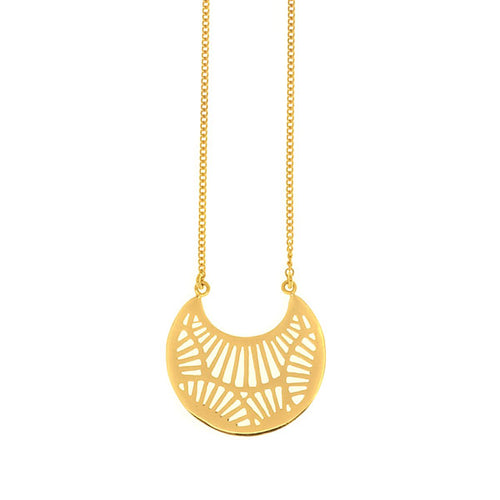 Gold Plated Silver Monyou Cresent Pendant