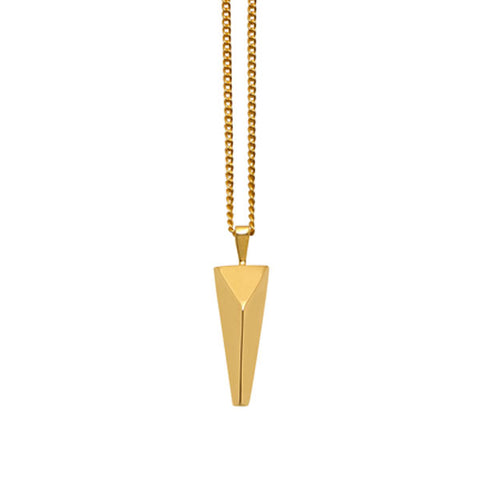 Rosewood & Gold plated Spike Pendant