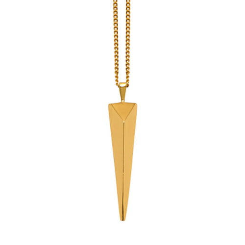 Long spear pendant - Gold plate